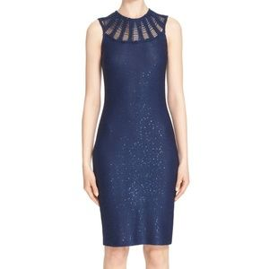 St. John Collection Sequined Yarn Knit Dress